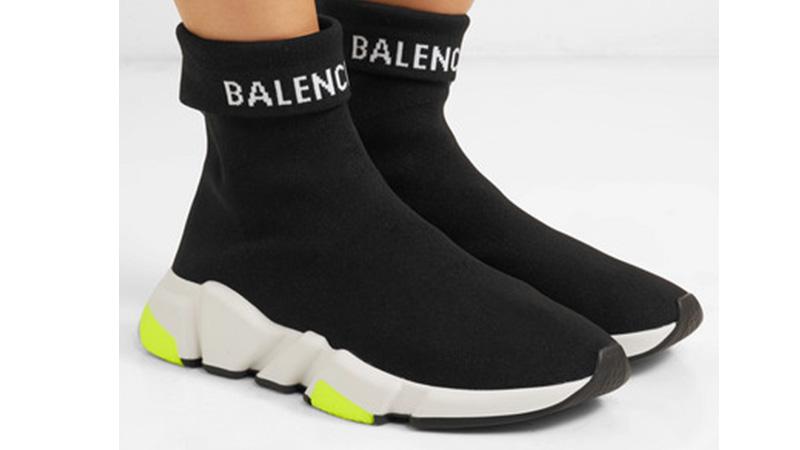 Balenciaga Speed Logo Black White 05
