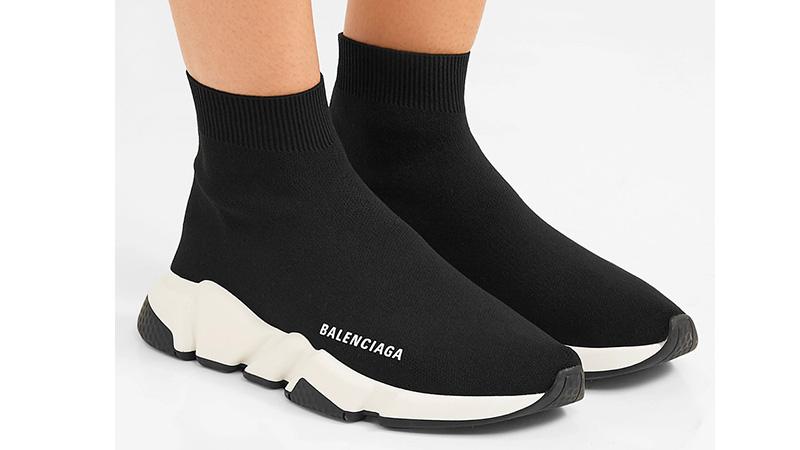 Balenciaga Speed Logo Print Black White 05