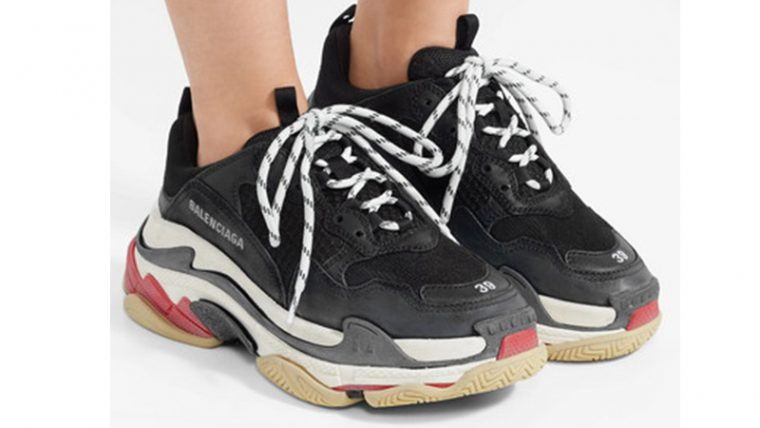 Balenciaga Triple S Black White 05