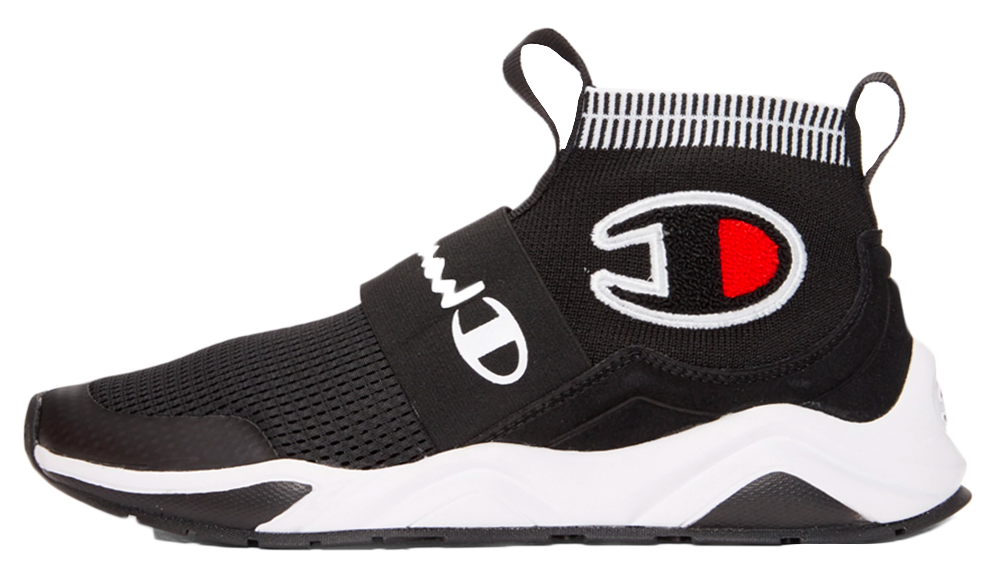 Champion Reverse Weave Black Rally Pro High-Top Sneakers