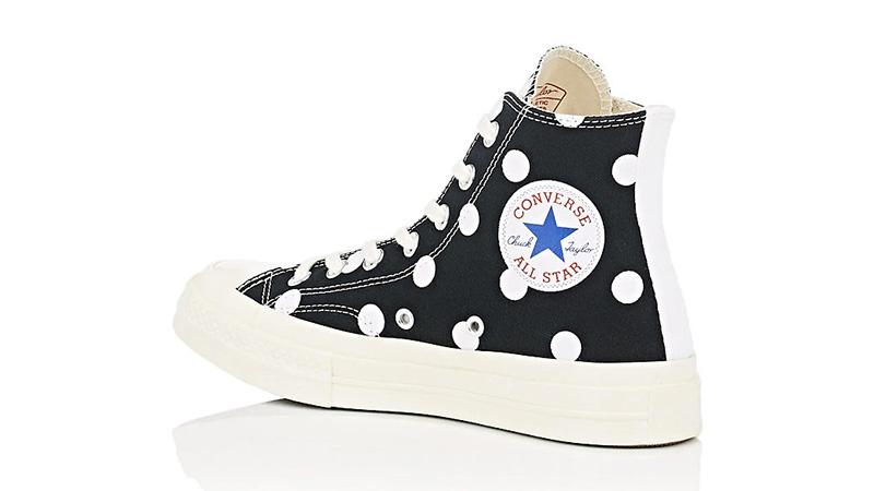 a437d4305b9e Comme des Garcons Play x Converse Chuck Taylor All Star 70 Hi Polka Dot  Black 01