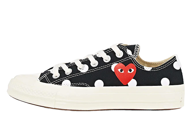 Helecho prima Honestidad  Comme des Garcons Play x Converse Chuck Taylor All Star 70 Low Polka Dot  Black | Where To Buy | TBC | The Sole Womens