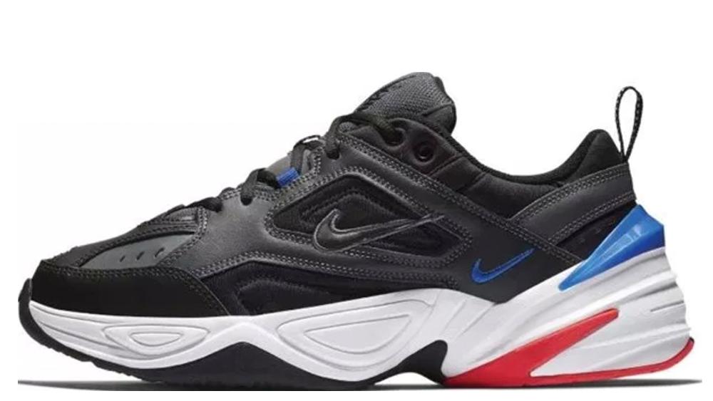 The Nike M2k Tekno Dark Grey:Racer Blue 4
