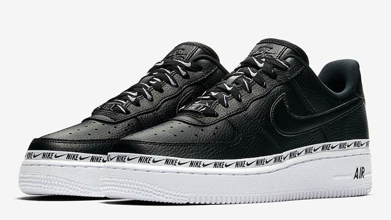 Nike Air Force 1 Premium Low Logo Ribbon Pack Black | AH6827 002