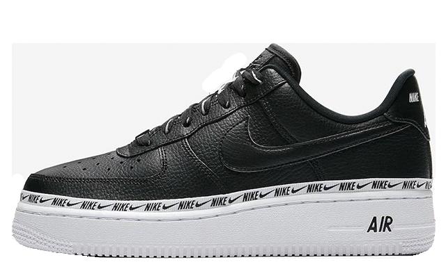 nike black & white air force 1 low premium trainers