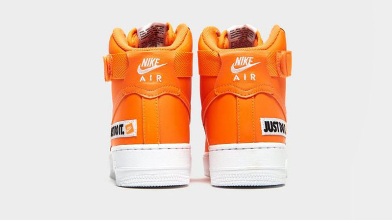 Nike Air Force 1 Mid Just Do It Orange White Womens 01