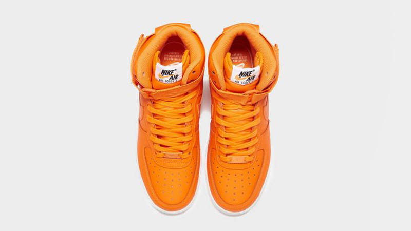 Nike Air Force 1 Mid Just Do It Orange White Womens 02