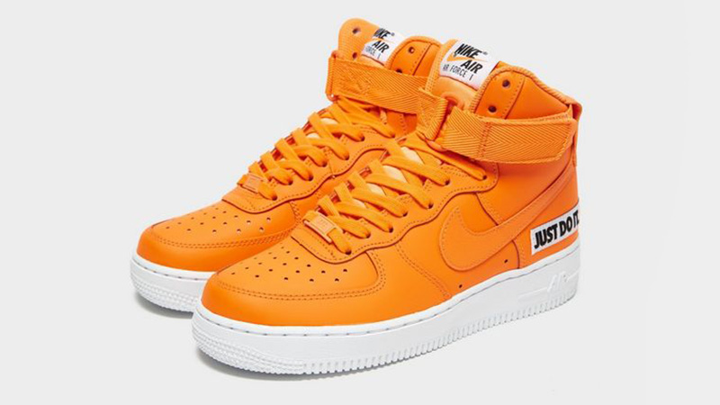 Nike Air Force 1 Mid Just Do It Orange White Womens 03