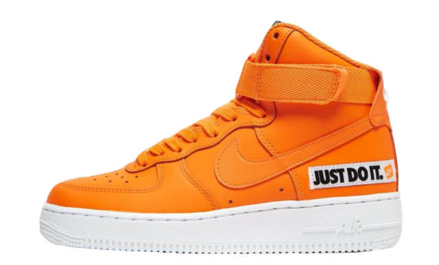 check out 1f5df d7709 Nike Air Force 1 Mid Just Do It Orange White Womens