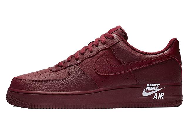 Nike Air Force 1 Stamp Logo Red
