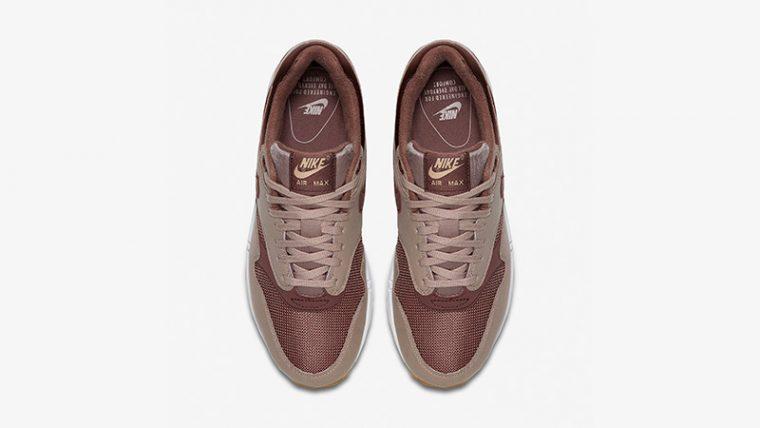 4544a6513af62 Nike Air Max 1 Taupe Gum Womens 319986-204 02
