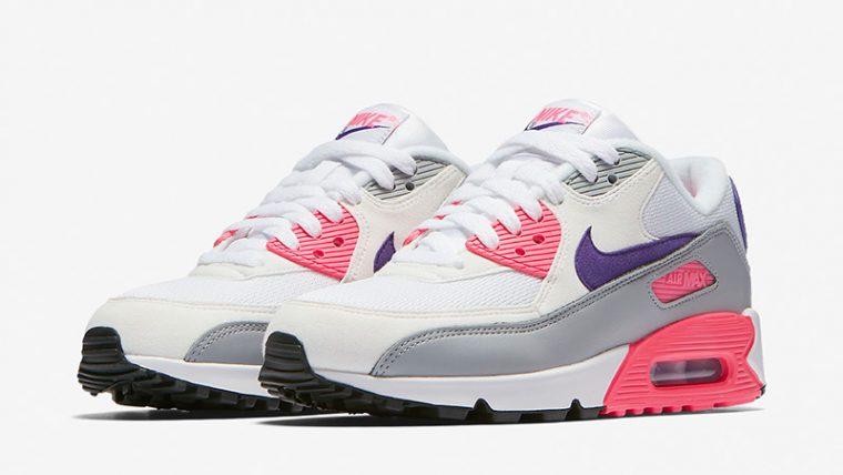 Nike Air Max 90 Grey Pink Womens 325213-136 03 thumbnail image