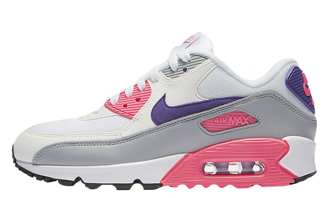Nike Air Max 90 Grey Pink Womens 325213-136