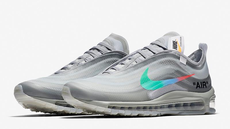 Off White x Nike Air Max 97 Grey Menta | AJ4585 101