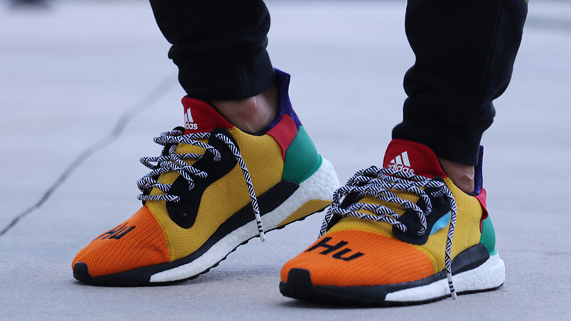 shopping on feet shots of hot sale online Pharrell Williams x adidas Solar Hu Glide Multi | BB8042