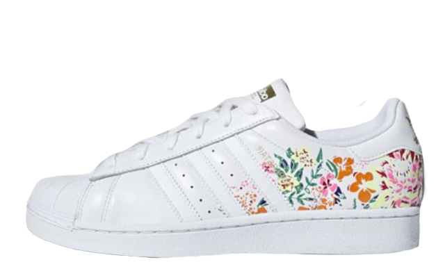 5a0c39695ce34 adidas Stan Smith Floral Print White Womens