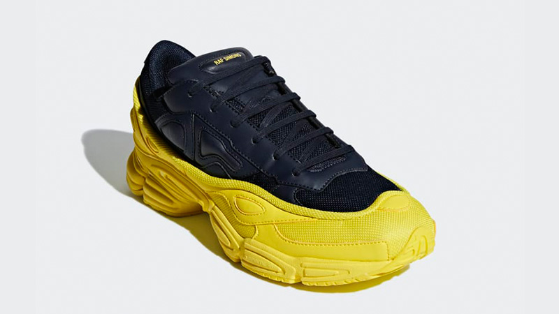 5cc1c3bfe adidas x Raf Simons Ozweego Black Yellow | F34267 | The Sole Womens