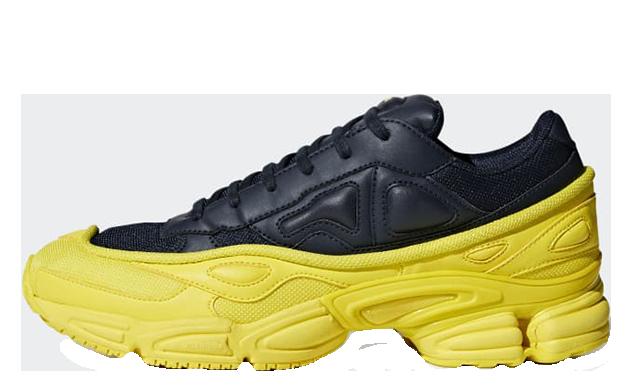 adidas x Raf Simons Ozweego Black Yellow | F34267 | The Sole Womens