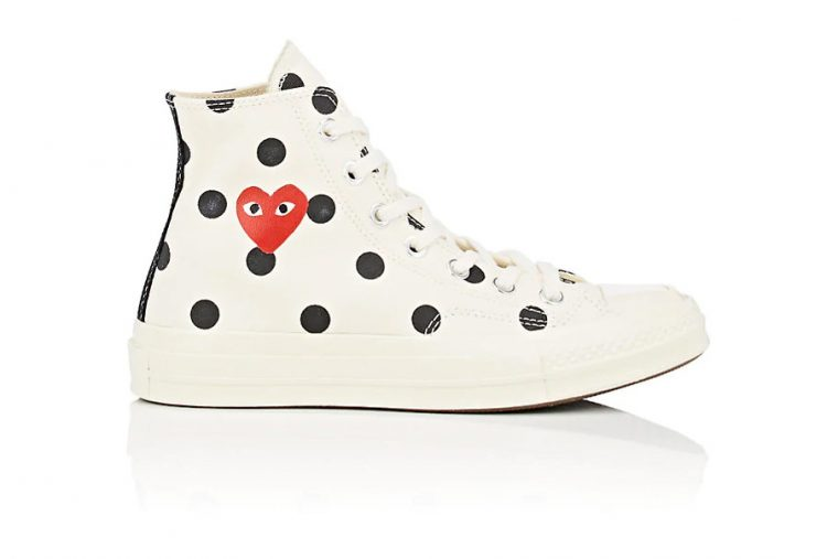 Polka Dots Transform The COMME des GARÇONS PLAY x Converse Chuck ... 30dcd08a61ec