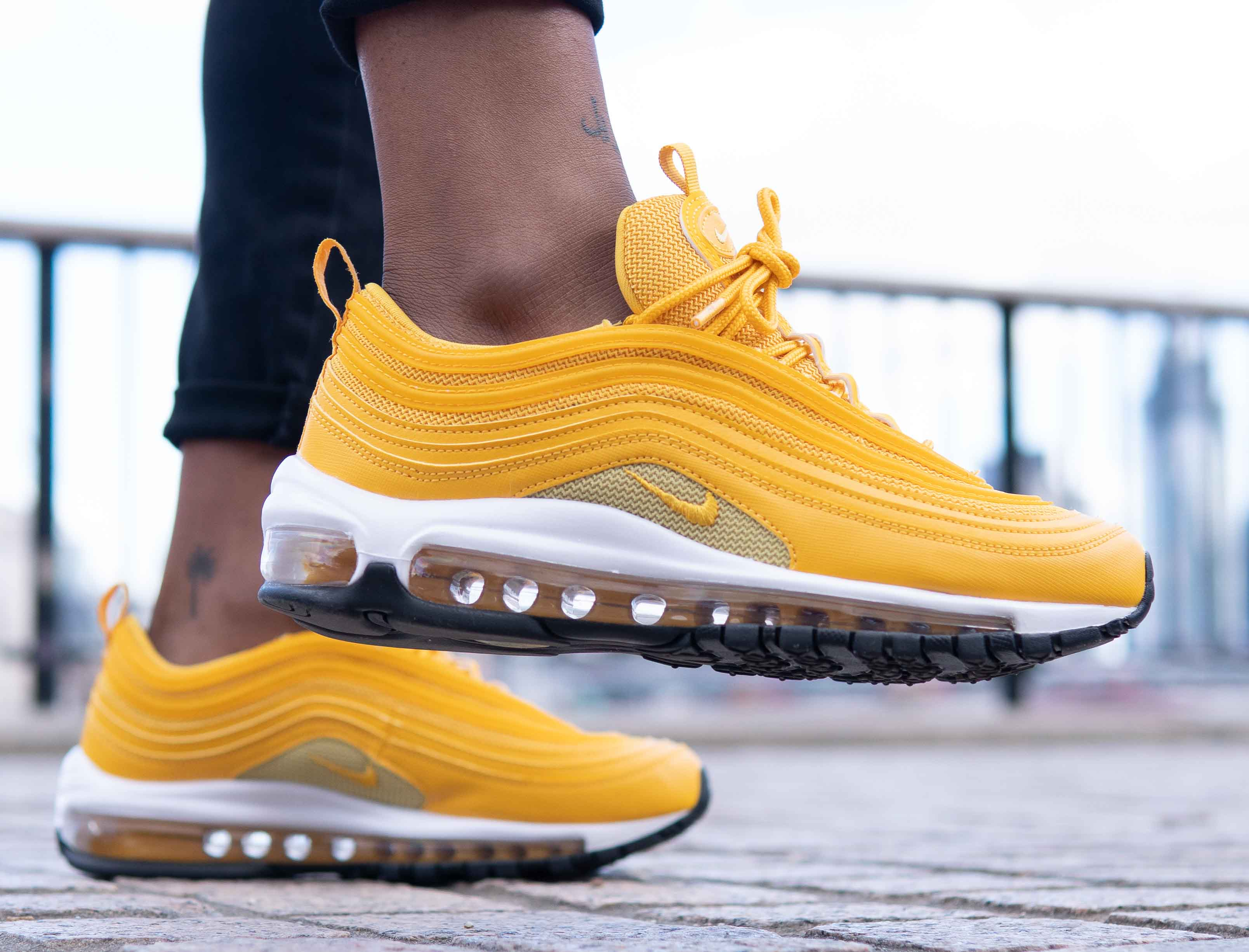 new style 40ec3 65663 ... discount an exclusive on foot look at the mustard nike air max 97 c2f44  776ad