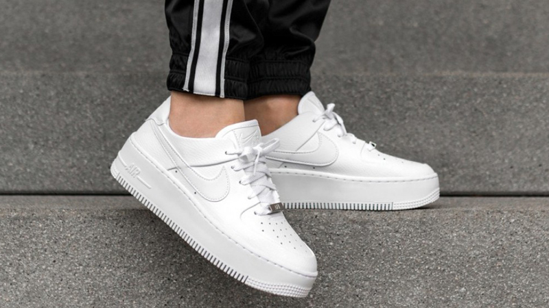 Nike Air Force 1 Sage Low White Ar5339 100 The Sole Womens