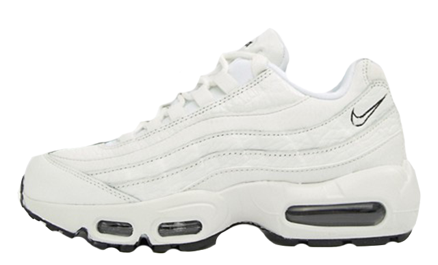 release date: 12097 aad02 Nike Air Max 95 Leather Triple White   AQ8758-100