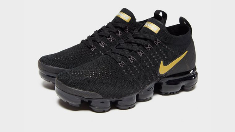 designer fashion 39a67 02b59 Nike Air VaporMax Flyknit 2 Black Gold Womens 03