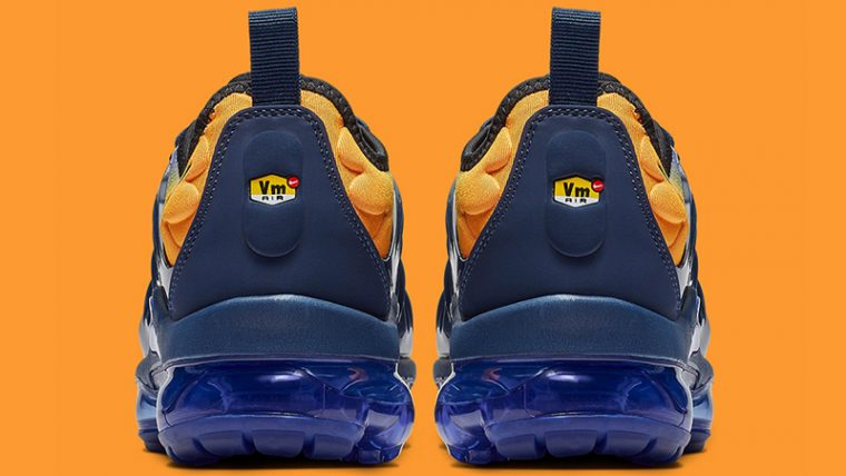27a536fff7 Nike Air VaporMax Plus Utility Blue Orange Womens | AO4550-500 | The ...