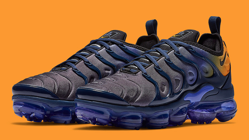 finest selection 4131d a7ae1 Nike Air VaporMax Plus Utility Blue Orange Womens | AO4550-500