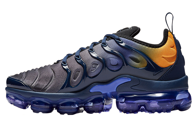 finest selection 555bd 51e20 Nike Air VaporMax Plus Utility Blue Orange Womens | AO4550-500
