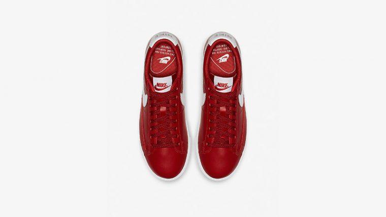Nike Blazer Low LE Red White Womens AV9370-600 01 thumbnail image