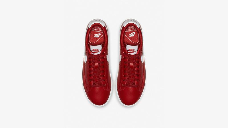Nike Blazer Low LE Red White Womens AV9370-600 01