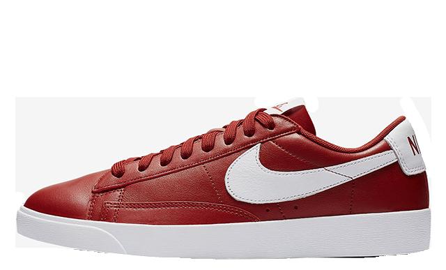 Nike Blazer Low LE Red White Womens AV9370-600
