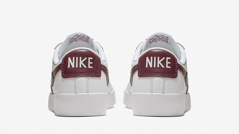 0c4f718dd0507a Nike Blazer Low LE White Bordeaux Womens AV9370-115 01