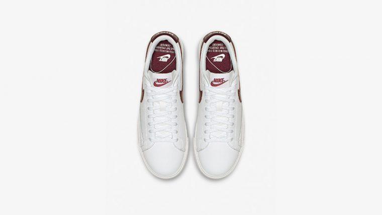 official photos fb25f fa451 Nike Blazer Low LE White Bordeaux Womens | AV9370-115