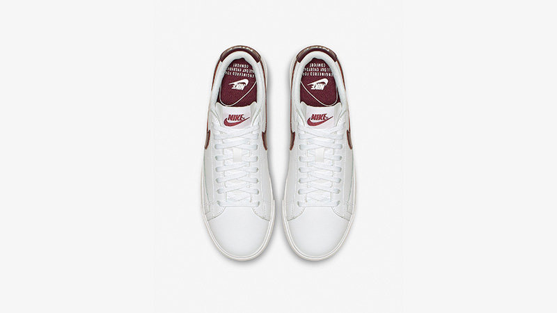 036498eeed622b Nike Blazer Low LE White Bordeaux Womens AV9370-115 02