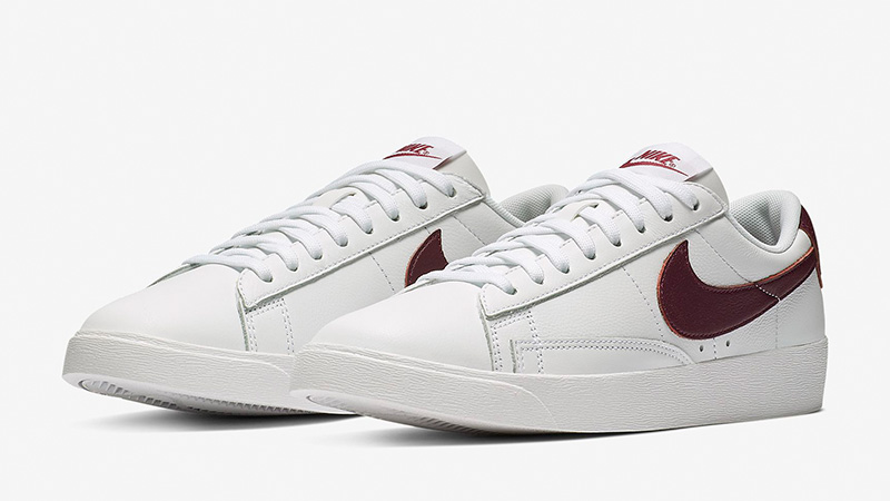 0cd4cdb0972e69 Nike Blazer Low LE White Bordeaux Womens AV9370-115 03
