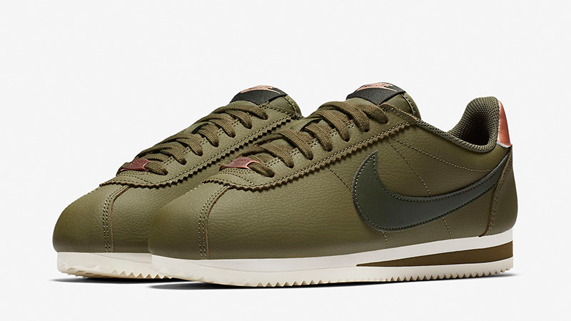 the best attitude 692fd 7acb7 Nike Classic Cortez Leather Olive Bronze | AV4618-300