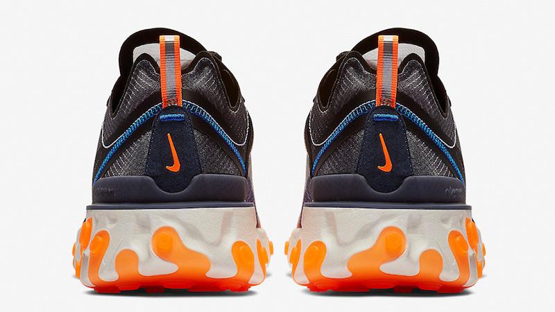 Nike React Element 87 Blue Orange   AQ1090-004