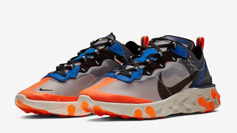 Nike React Element 87 Blue Orange   AQ1090-004 thumbnail image