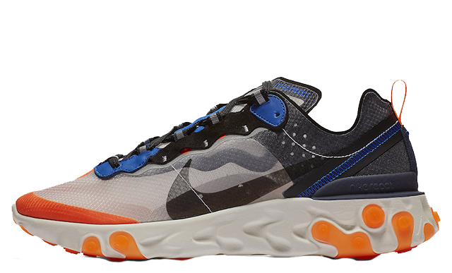 Nike React Element 87 Blue Orange | AQ1090-004