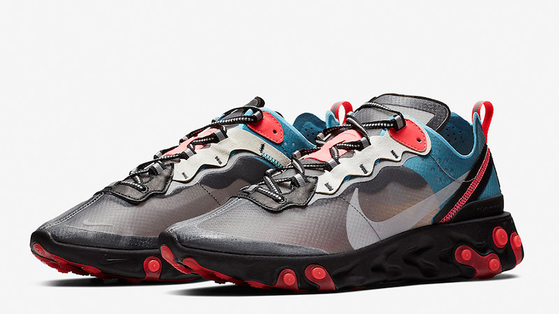 Nike React Element 87 Grey Blue Red | AQ1090-006