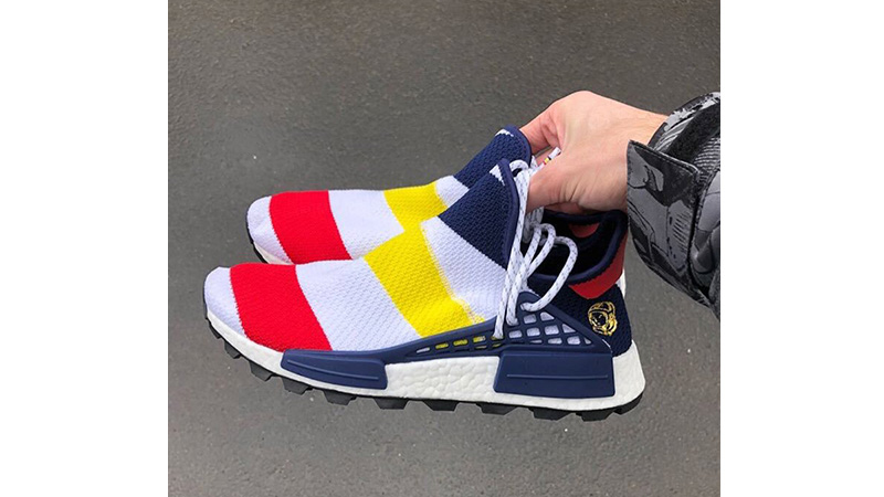 info pour 1954a 012b4 Pharrell Williams x adidas NMD Hu BBC Scarlet Multi | BB9544