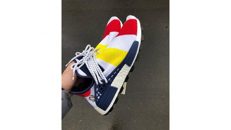Pharrell Williams x adidas NMD Hu BBC Scarlet Multi | BB9544 thumbnail image