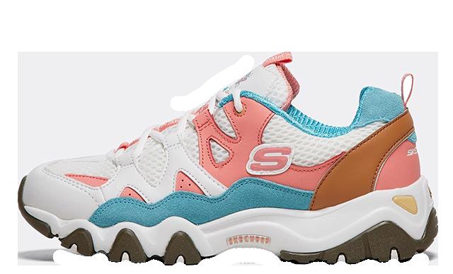 509b596a1615 ... Skechers DLites Tidal Waves White Pink Womens