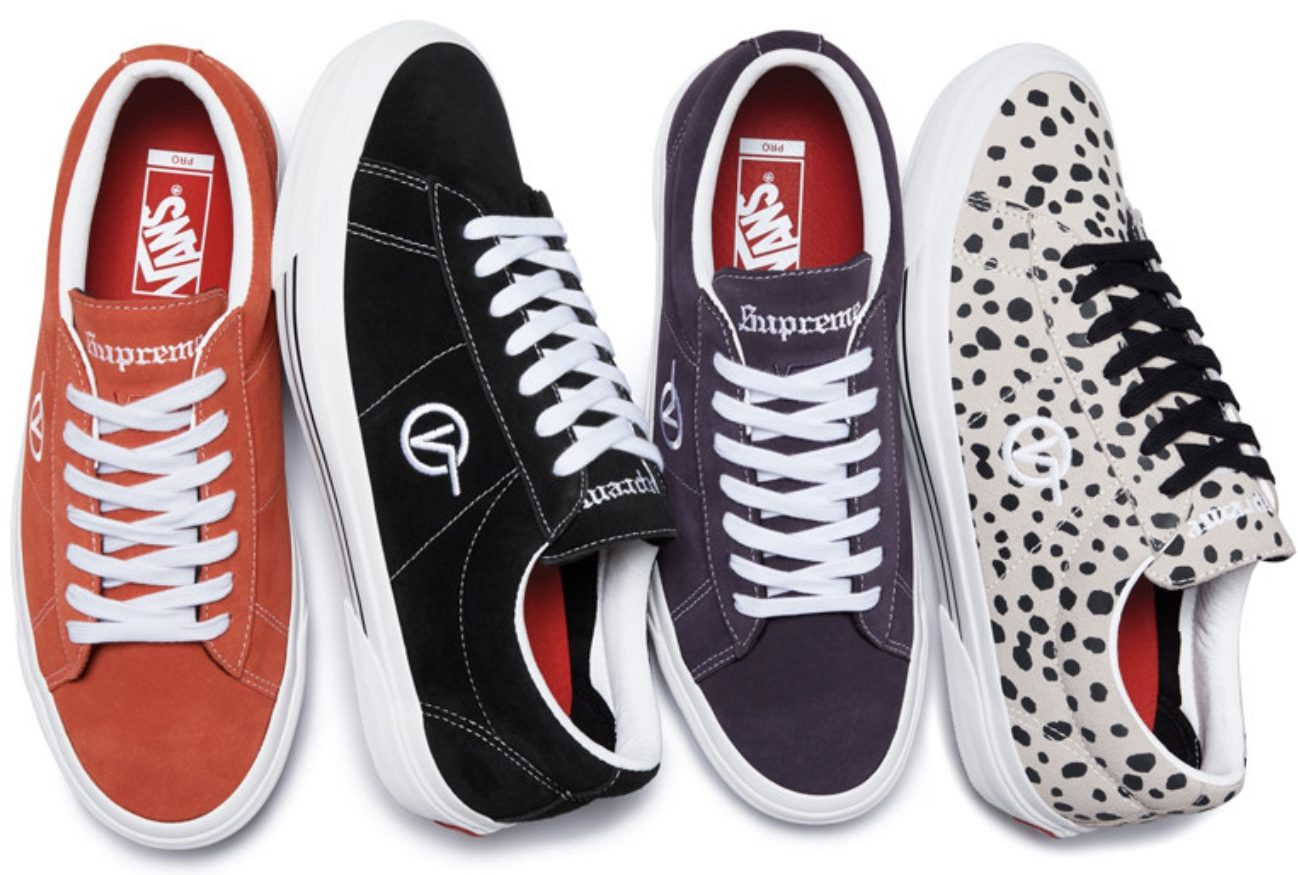 0716205f Supreme Team Up With Vans For A Minimal Silhouette   Upcoming ...