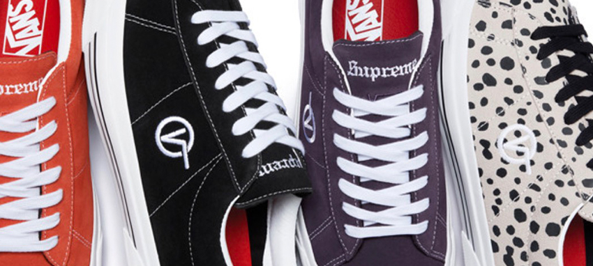 3e1baa78 Supreme Team Up With Vans For A Minimal Silhouette   Upcoming Sneaker  Releases   The Sole Womens