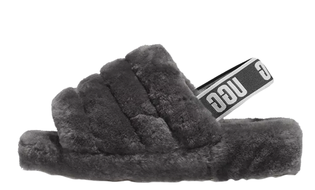 1ca680adcd3 Make sure to stay tuned to our social media pages for more updates and news  on the latest UGG silhouettes. UK true DD MM YYYY. UGG Fluff Yeah Logo  Slides ...