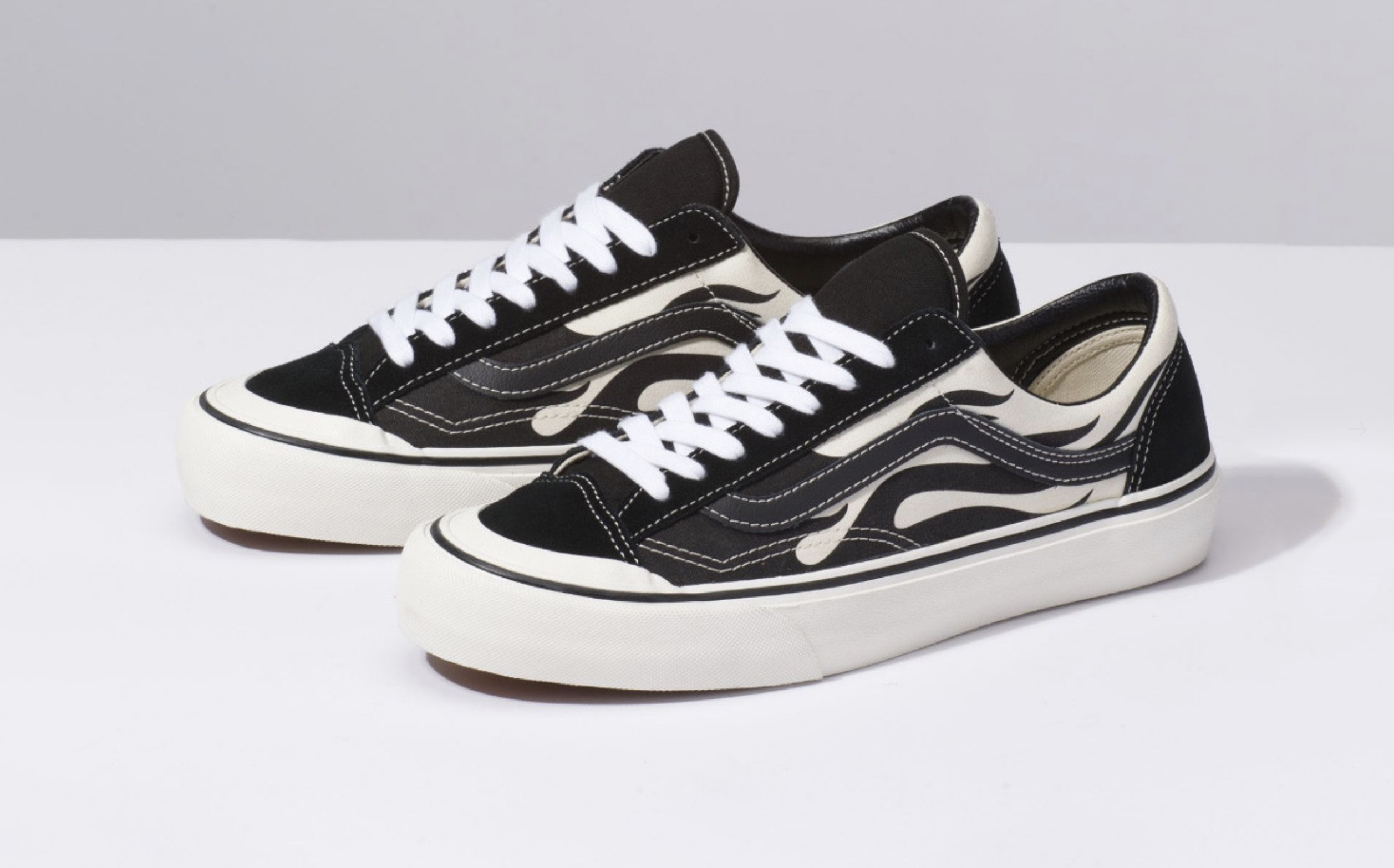 Vans Add Monochrome Flames To Their Newest Silhouette 2