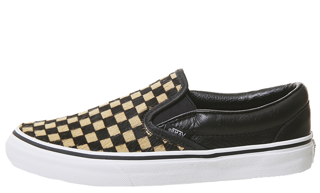 Vans Classic Slip On Checkerboard Black Brown